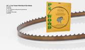 "1/2"" x 3AS .032 thick Series Timber Wolf® band saw blade"