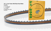 "1/2"" x 3PC Series Timber Wolf® band saw blades"