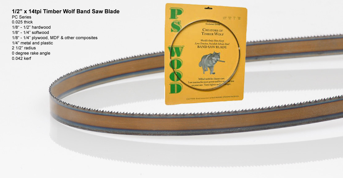 """Woodworking Timber Wolf Band Saw Blade 80/"""" 1//4/"""" 14tpi RK"""