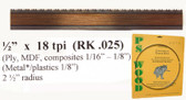 "1/2"" x 18RK Series Timber Wolf® band saw blades"