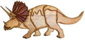 Triceratops Dinosaur Intarsia Pattern