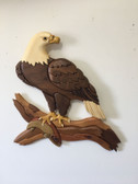 EAGLE WITH FISH INTARSIA PATTERN