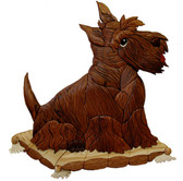 SCOTTIE ON PILLOW INTARSIA PATTERN