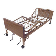 Multi Height Manual Hospital Bed with Full Rails - 15003bv-fr