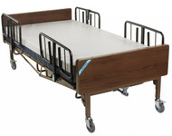 Full Electric Bariatric Hospital Bed with Mattress and T Rails - 15303bv-pkg