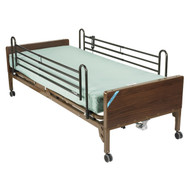 Delta Ultra Light Semi Electric Bed with Full Rails and Innerspring Mattress - 15030bv-pkg