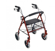 Four Wheel Rollator Walker with Fold Up Removable Back Support - 10257rd-1