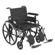 Viper Plus GT Wheelchair with Flip Back Removable Adjustable Full Arm and Elevating Leg Rest - pla422fbfaar-elr