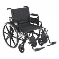 Viper Plus GT Wheelchair with Flip Back Removable Adjustable Desk Arm and Elevating Leg Rest - pla422fbdaar-elr