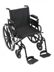 Viper Plus GT Wheelchair with Flip Back Removable Adjustable Desk Arm and Swing Away Footrest - pla416fbdaarad-sf