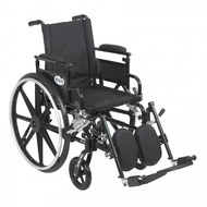 Viper Plus GT Wheelchair with Flip Back Removable Adjustable Desk Arm and Elevating Leg Rest - pla420fbdaarad-elr