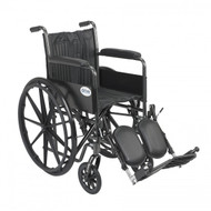 Silver Sport 2 Wheelchair with Elevating Foot Rest - ssp216fa-elr