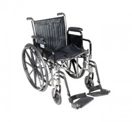 Silver Sport 2 Wheelchair with Detachable Desk Arms and Swing Away Footrest - ssp218dda-sf
