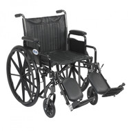 Silver Sport 2 Wheelchair with Detachable Desk Arms and Elevating Leg Rest - ssp220dda-elr