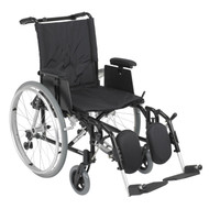 Cougar Ultra Lightweight Rehab Wheelchair with Detachable Adjustable Desk Arms and Elevating Leg Rest - ak518ada-aelr