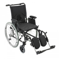 Cougar Ultra Lightweight Rehab Wheelchair with Detachable Adjustable Desk Arms and Elevating Leg Rest - ak516ada-aelr