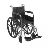 Chrome Sport Wheelchair with Full Arms and Swing Away Footrest - cs16fa-sf