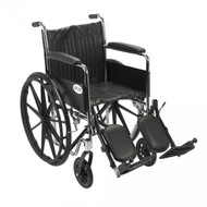Chrome Sport Wheelchair with Full Arms and Elevating Leg Rest - cs18fa-elr