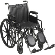 Silver Sport 2  Wheelchair with Detachable Full Arms and Swing Away Footrest - cs20dfa-sf