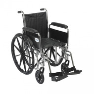 Chrome Sport Wheelchair with Detachable Full Arms and Swing Away Footrest - cs16dfa-sf