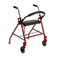 Two Wheeled Walker with Seat, Red