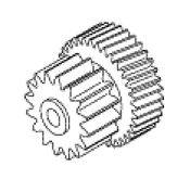 Traverse Gear Double For Chairman Dental Chair - PCG740 (OEM: 024766)