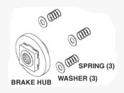 Brake Repair Kit For Chairman Dental Chair - PCK742 (OEM: 011195)