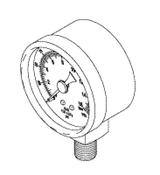 Pressure Gauge (230psi) For DentalEZ Dental Compressor - CMG050