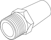 Purge Muffler For Dental Compressor - CMM017 (OEM No: 80330)