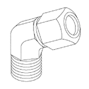 Booth Medical - ELBOW FITTING (45&No: 730;  MALE) - RPF859 (OEM Part No: 14-0201-00)
