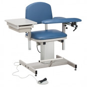 Clinton Power Series Padded Blood Drawing Chair - With Drawer - 375 LBS Capacity