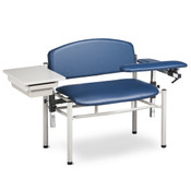 linton 6069-U SC Series Padded Blood Drawing Chair With Drawer - Extra Wide