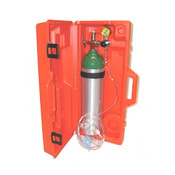 Booth Medical - Mada D Emergency Oxygen Kit with Hard Carry Case - 1528E