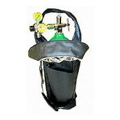 Booth Medical - Mada D Oxy-Uni-Pak Portable Oxygen Kit with an Adjustable 2-8 LPM Regulator and Soft Shoulder Bag - 1515AE