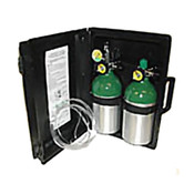Booth Medical - Mada M7 Oxy-Uni-Pak Dual Portable Oxygen Kit with an Adjustable Regulator and Hard Carry Case - 1313ME