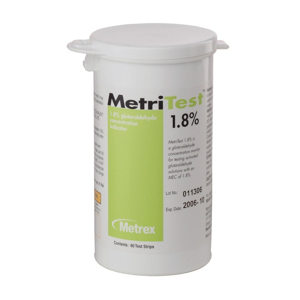 MetriTest 18 Glutaraldehyde Test Strips