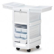 Lockable Medical Cart With White High Gloss Laminated Top - 30820
