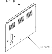 Booth Medical - Rear Panel for 2340E, 2540EA, EZ9 or EZ10 - RCV240-0012
