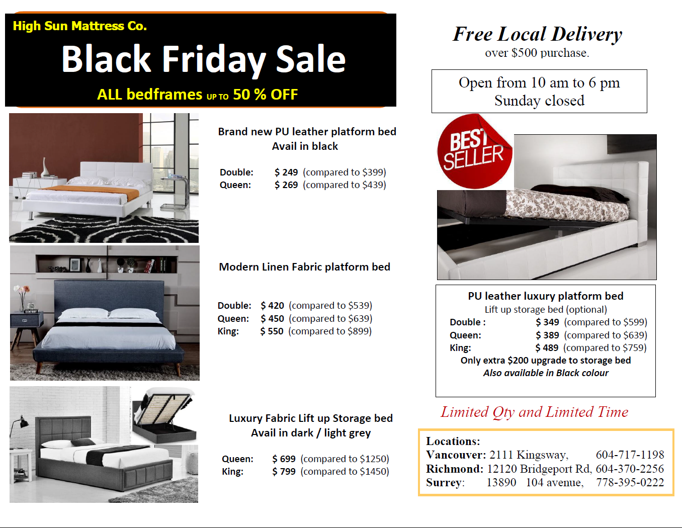 Black Friday bed sale