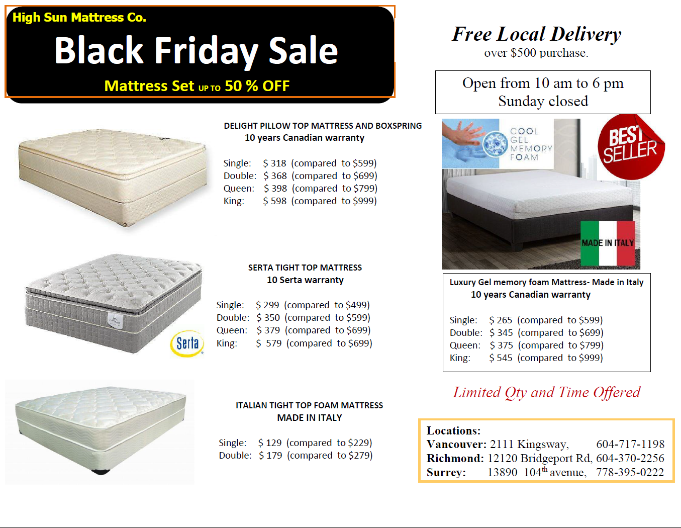 Black Friday mattress sale