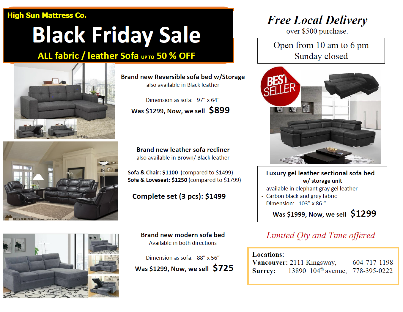 Black Friday sofa sale