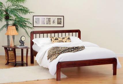 Modern wood platform bed