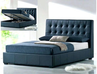 Sa339 leather lift up storage bed