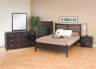 Sumatra solid wood platform bed