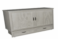 Traditional cabinet bed with gel memory foam mattress- made in BC