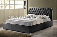 Sa887 leather platform bed