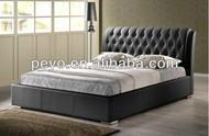 SA887 Leather Platform Bed