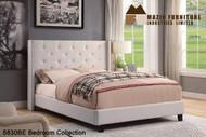 Mz 5830 linen platform bed (grey/ beige)