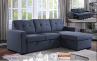 9152 modern fabric Reversible Sectional sofa bed