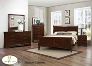 Louis Philip Sleigh Bed